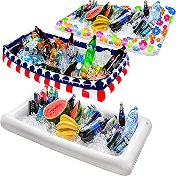 Amazon.com | 2 Packs Inflatable Pool Table Serving Bar ...