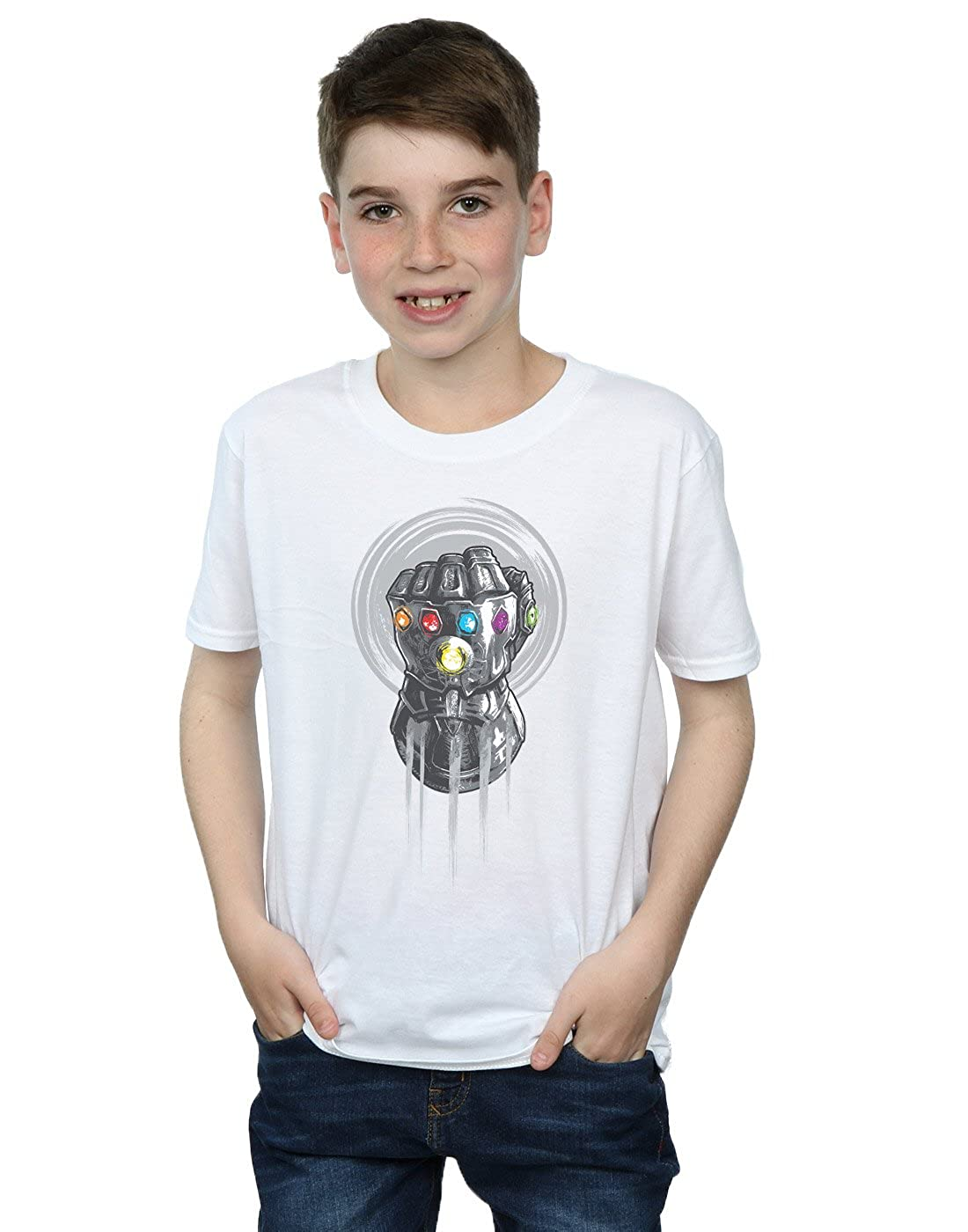 Absolute Cult Avengers Boys Infinity War Power Fist T-Shirt