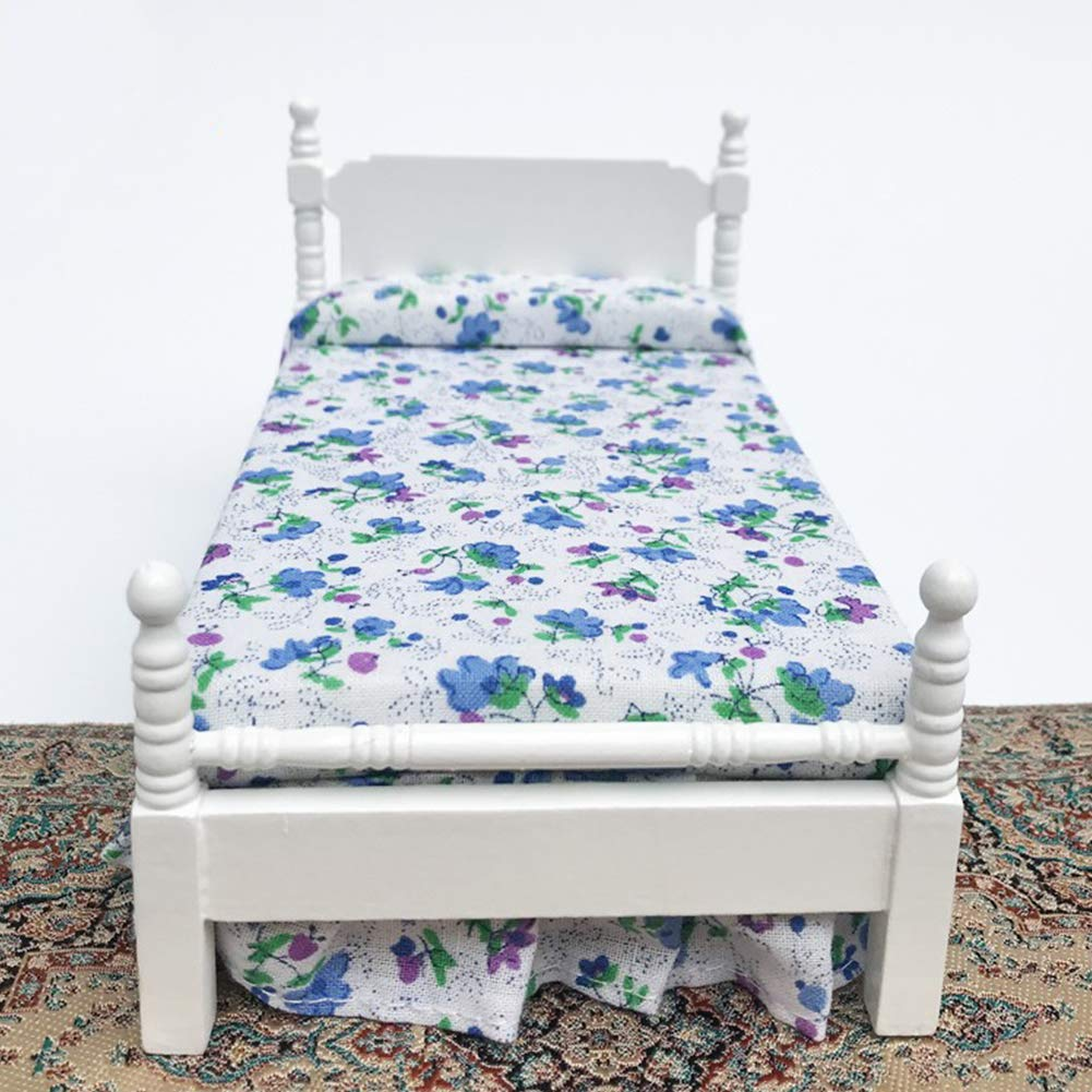 Nicebuty Mini meubles Chambre /à coucher Lit Mini Jeu Sc/ène Mod/èle poup/ée Accessoires Mini poup/ée D/écoration
