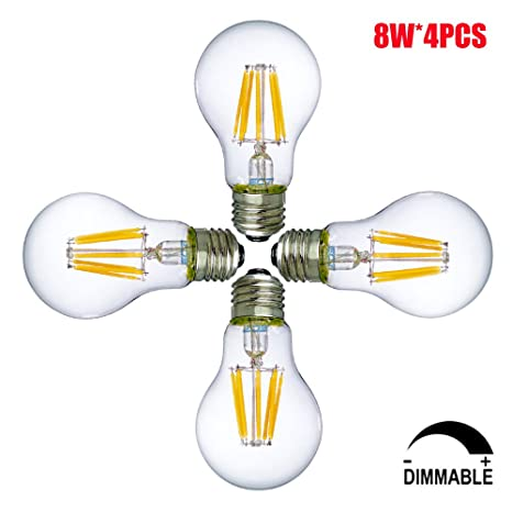 8W Bombillas LED E27 Dimmable A19 / A60 Bombillas de bajo consume, Bombilla decorativas,