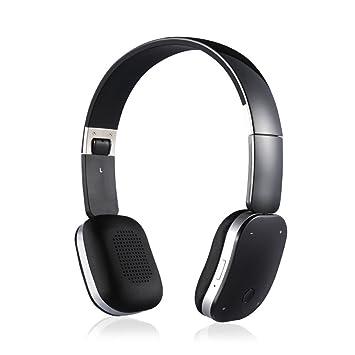 LQQAZY Auriculares Bluetooth Auriculares Inalámbrico Bajo Video Teléfono Celular/TV / Computadora Auriculares,Black