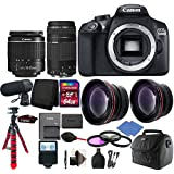 Canon EOS Rebel 1300D/T6 D-SLR Camera with 4 Lens, Microphone & Accessories