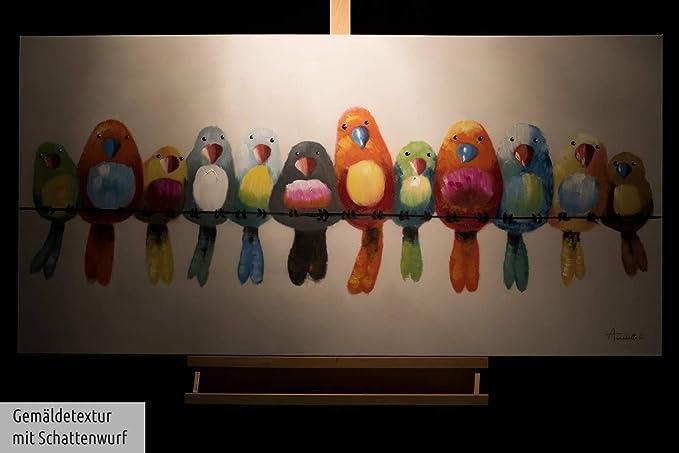 KunstLoft® Dipinto Acrilico 'Amici per Sempre' 120x60cm | Tele Originali manufatte XXL | Multicolore | Quadro da Parete Dipinto in Acrilico Arte
