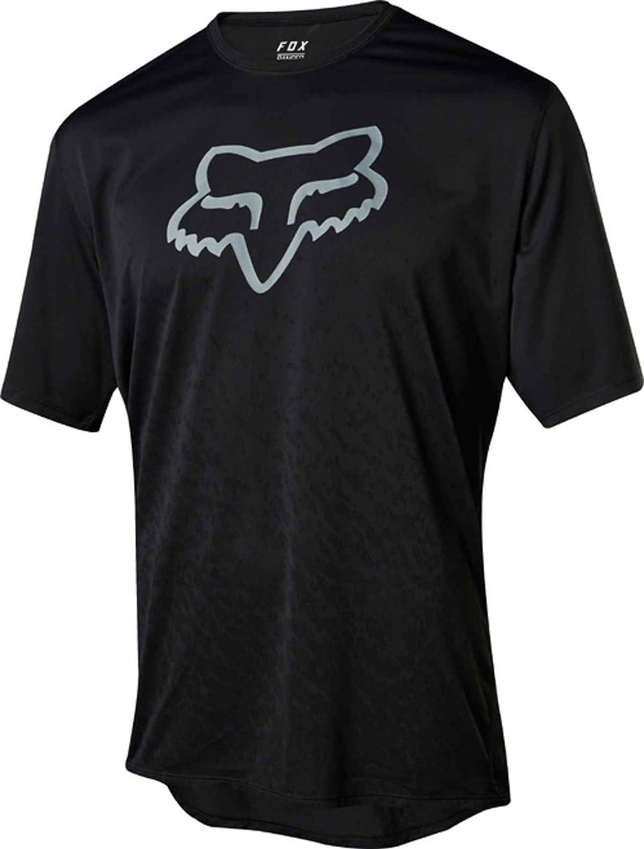 Fox Racing Ranger Short Sleeve Cntr Jersey – 21436 B079GR9RWH Medium|ブラック ブラック Medium