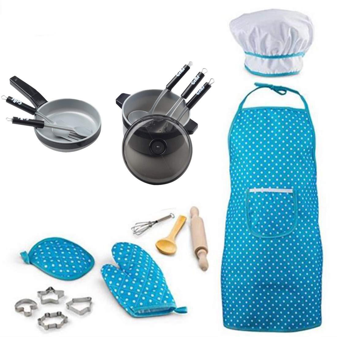 Foxom 19 Piezas Cocinitas Juguete - Juegos de Imitació n - Accesorios Cocina de Juguete con Delantales y Utensilios para Infantil Niñ os