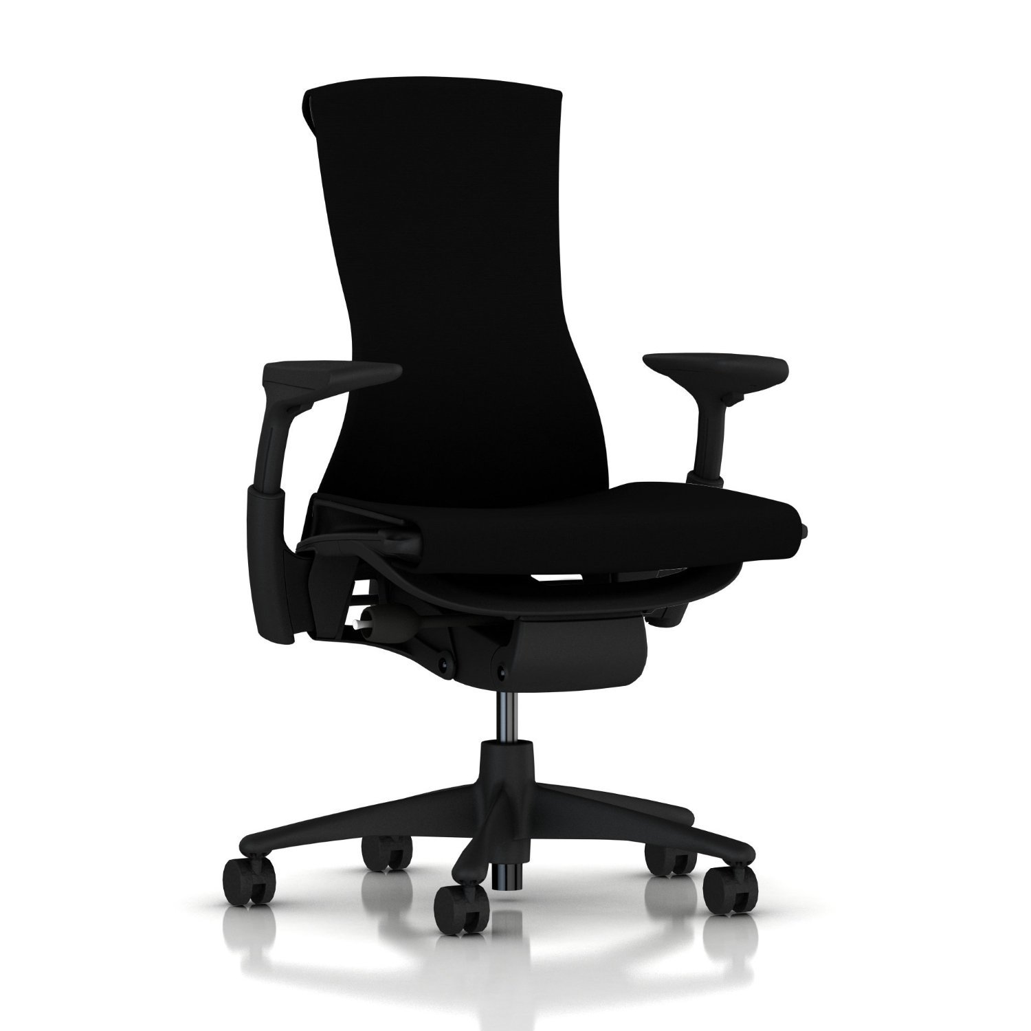 Herman Miller Embody Chair: Fully Adj Arms - Graphite Frame/Base - Standard Carpet Casters