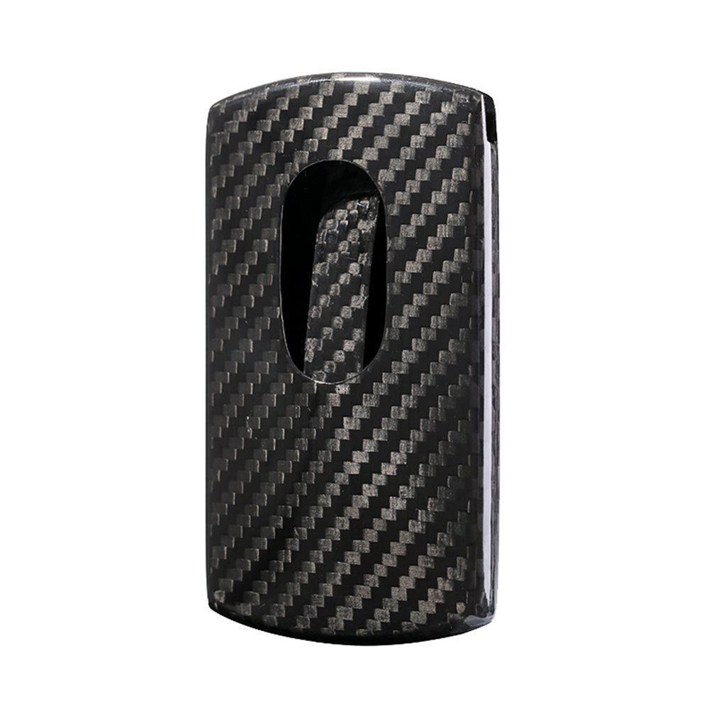 DAPTSY True Carbon Fiber Business Name Card Case For Men, Minimalist Slim Lightweight Card Holder Gloss Black