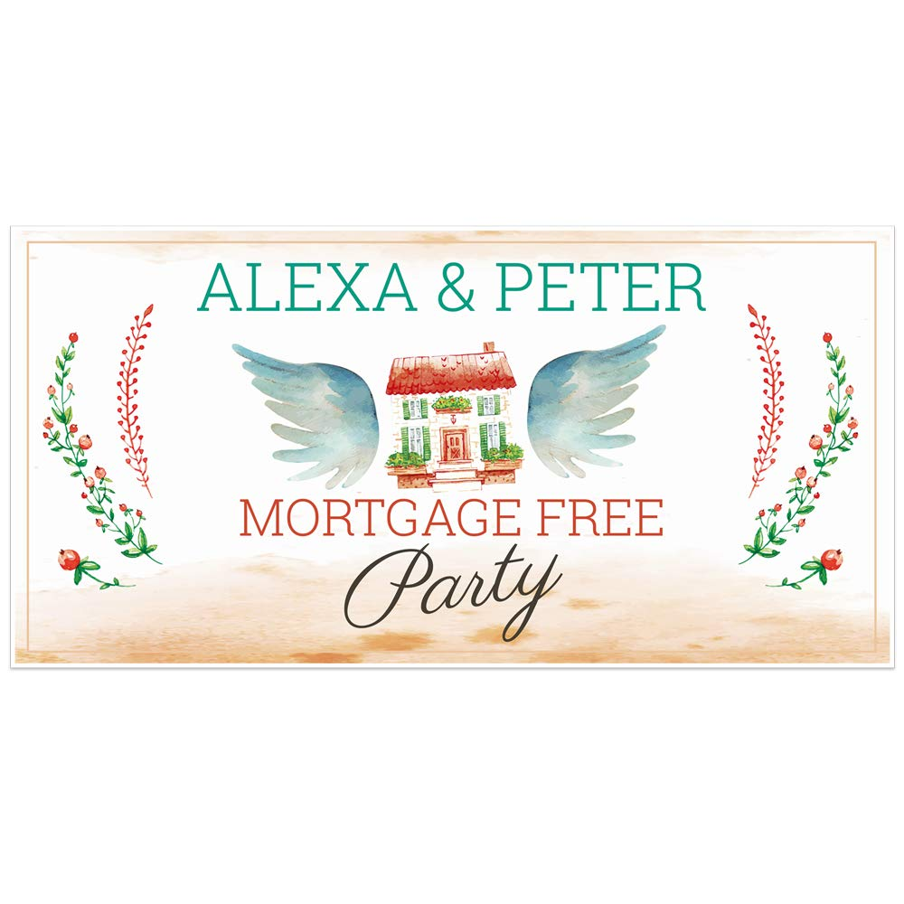 Mortgage Free Party Personalized Banner Decoration
