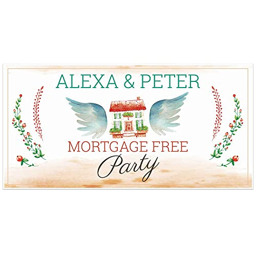 Amazon Com Mortgage Free Party Personalized Banner Decoration Handmade