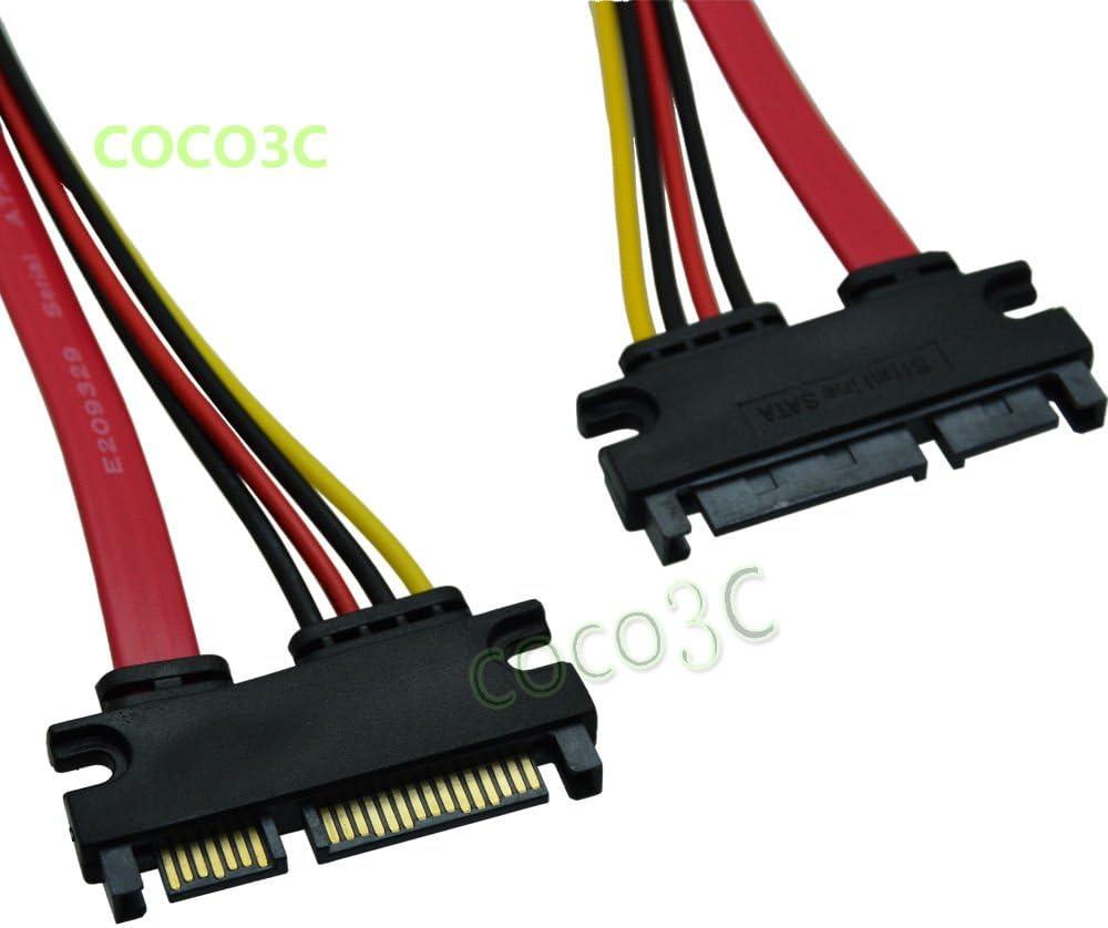 FidgetFidget 22 Pin SATA Male to 22 Pin SATA Male Power and Data Cable SATA7+15PIN HDD Cable