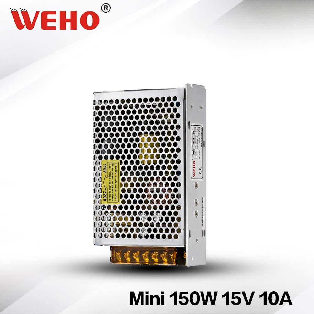 MS-150-15 Utini Single Output Mini AC 220v to 15v DC 10A CE Switching Power Supply
