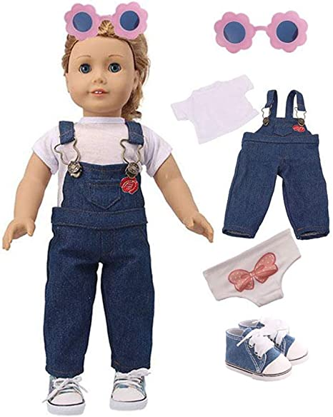 """Doll Clothes fits 18/"""" American Girl Royal Blue Sparkle Slip-on Shoes Accessories"""
