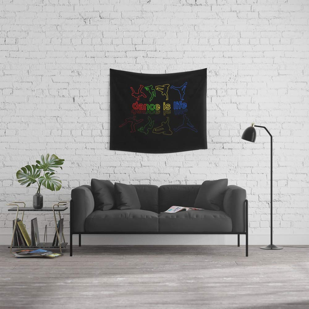 Society6 Wall Tapestry, Size Small: 51'' x 60'', Dance is Life by valentinahramov