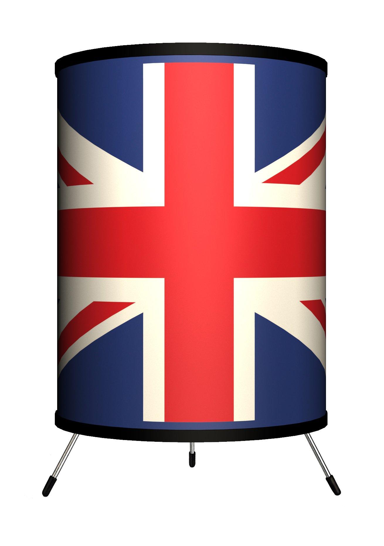 Lamp-In-A-Box TRI-TRV-UNION Travel - Union Jack Tripod Lamp, 8'' x 8'' x 14''