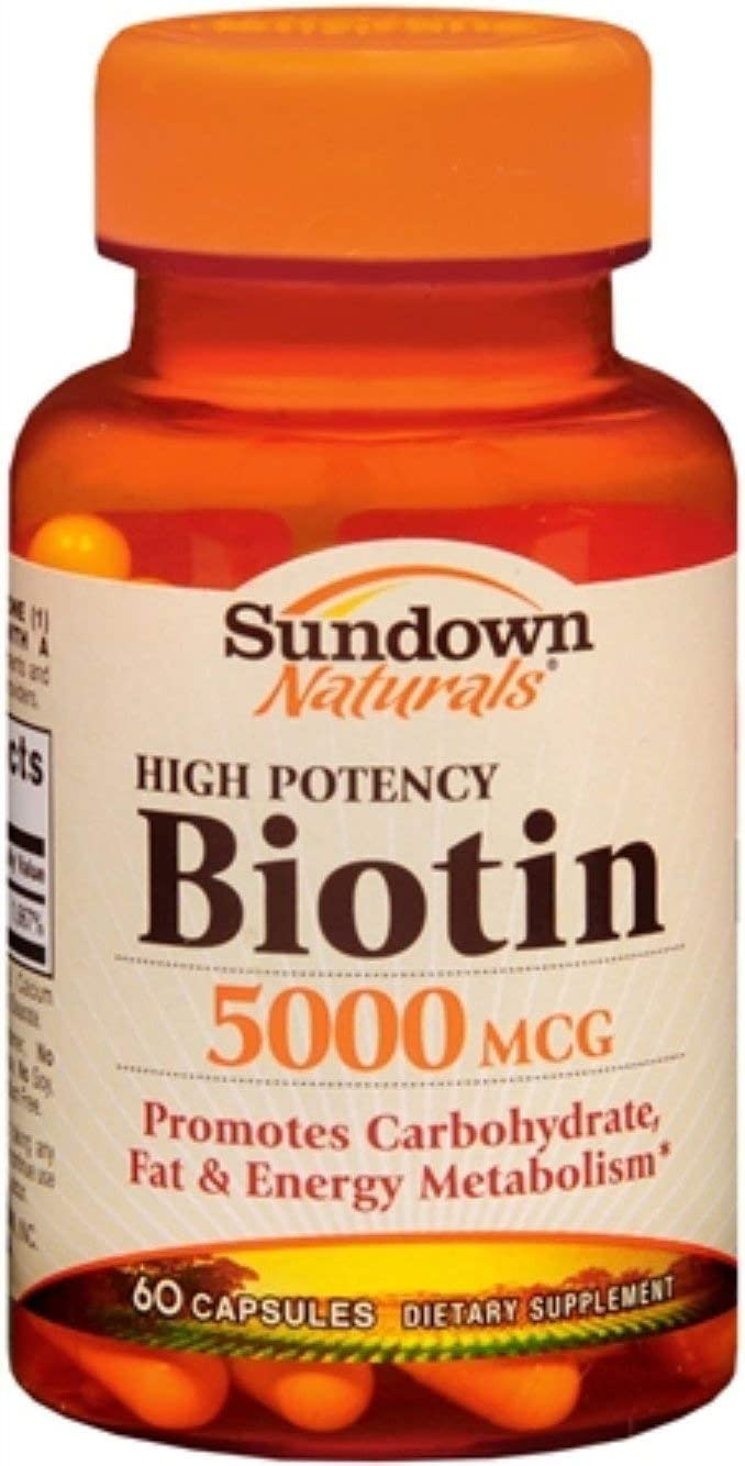 Sundown Biotin 5000 mcg Capsules 60 Capsules Pack of 6