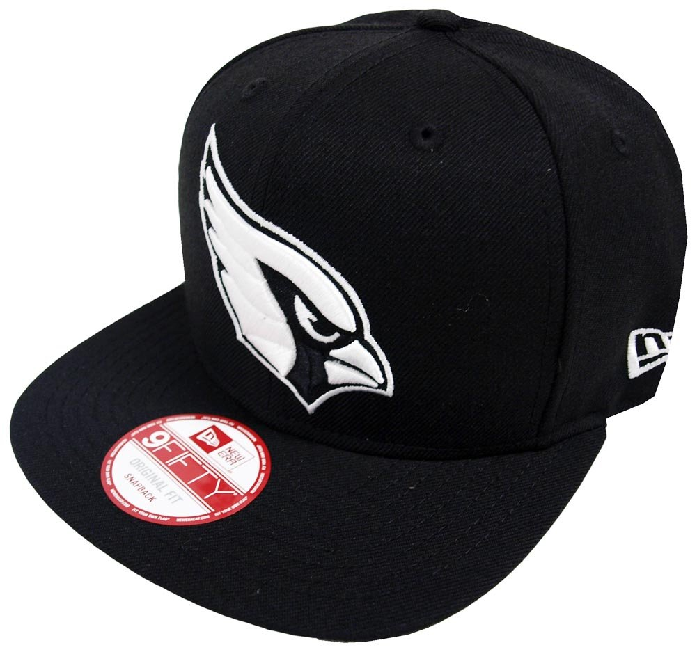 727045737a7 Amazon.com  New Era Arizona Cardinals Black White Logo Snapback Cap 9fifty  Limited Edition  Clothing