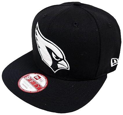 407ec2774cd Amazon.com  New Era Arizona Cardinals Black White Logo Snapback Cap ...
