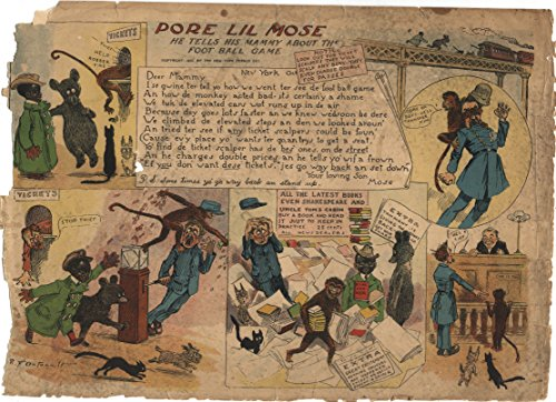 R.F. Outcault Pore Lil Mose Tells His Mammy About The Foot Ball Game Comic Strip Black Americana ()