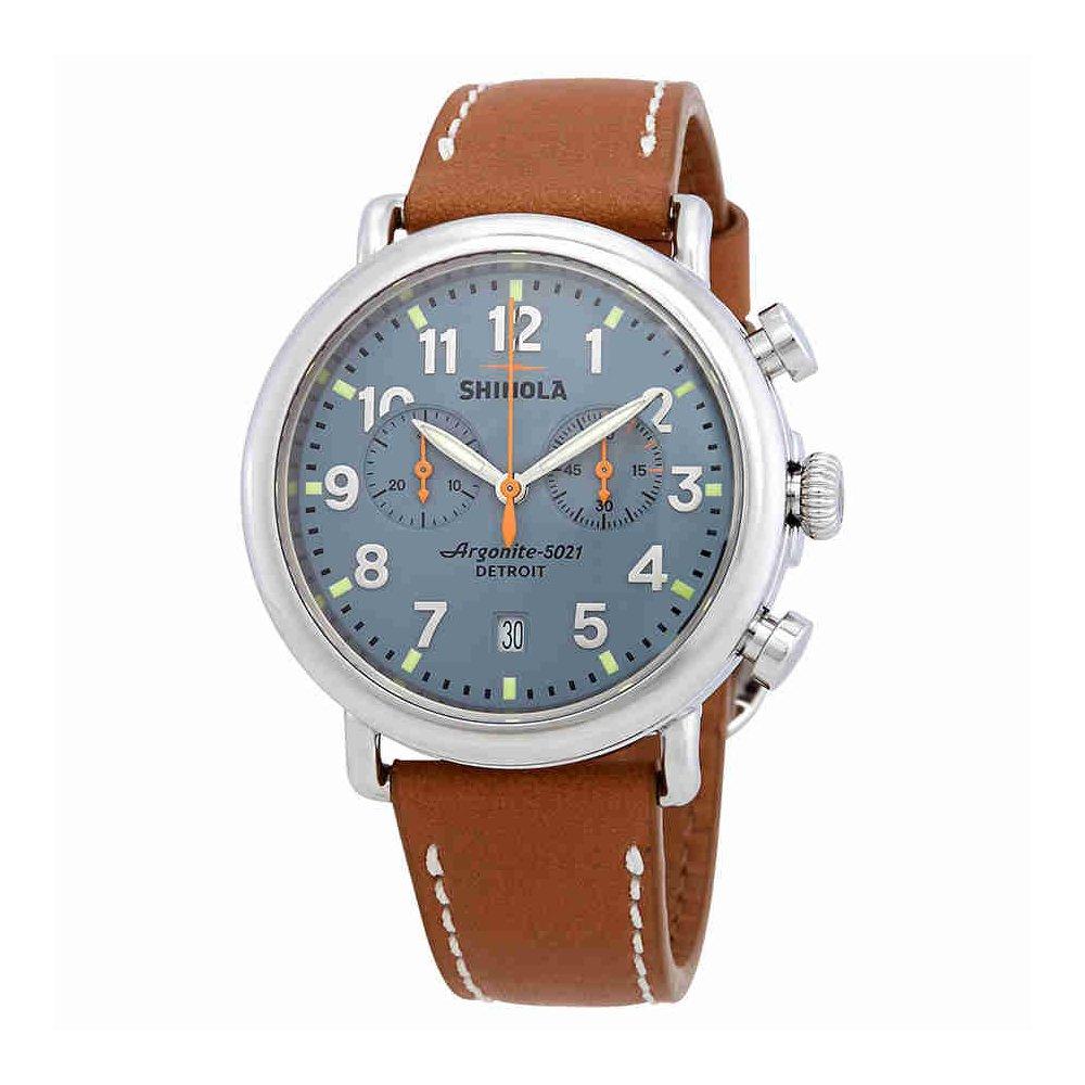 bbbf309da Amazon.com: Shinola The Runwell Slate Chronograph Blue Dial Mens Watch  S0110000097: Watches