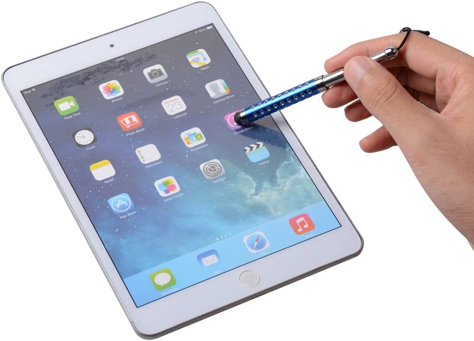 Crystal Dust plug Stylus Touch Screen Pens for iPhone iPad 1 2 4 Mini Galax Bs