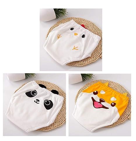 100% pantalones de entrenamiento de algodón ropa interior niños niñas impermeables, niño bebé tela