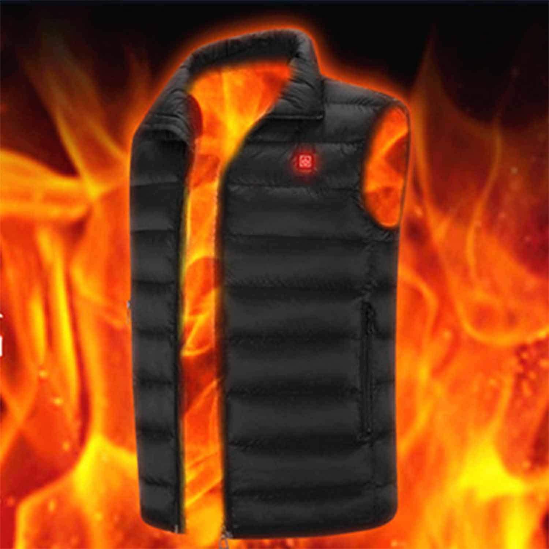 Elektrische Weste Plus heizung Kleidung warme Weste USB Power intelligente heizung Anzug einstellbare größe 4 großen heizbereich