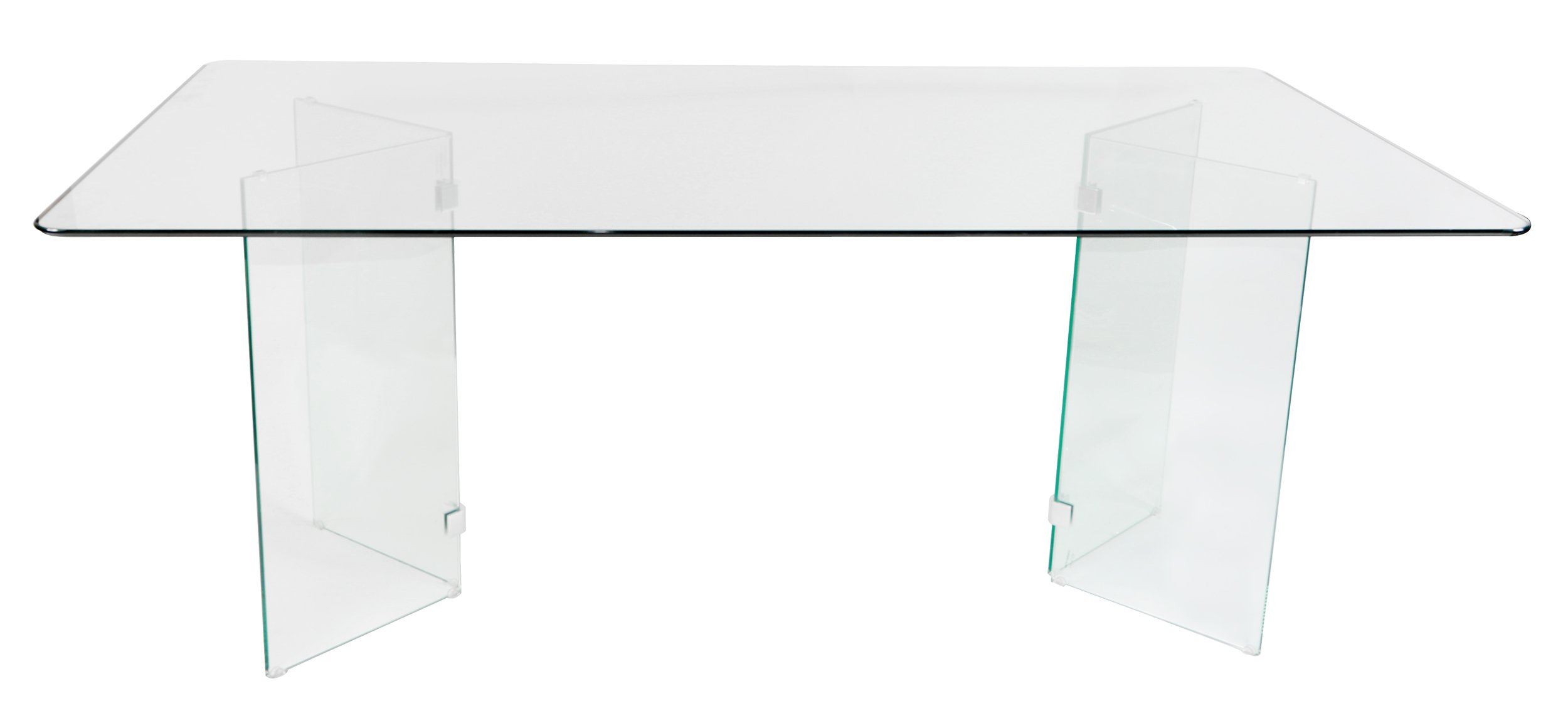 Homelegance Alouette 72'' x 42'' Glass Dining Table, Clear