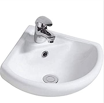 Lavabo d\'angle suspendu en céramique pour salle de bain 1 ...
