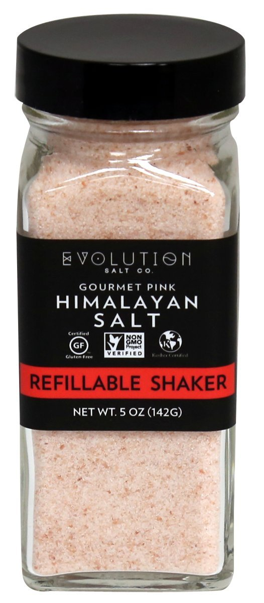 Evoltion Salt Co Gourmet Pink Himalayan Salt, Refillable, 5 Ounce (Pack of 6)
