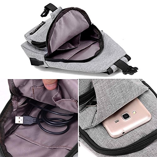 Unbalance Outdoor Casual Backpack Usb Canvas Blue Shoulder Sling Sports JESPER Purple Bag Crossbody ZqXwS5