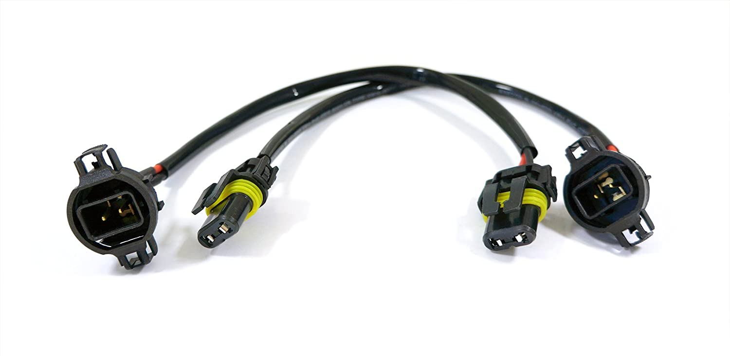Genssi Ps24wff 5202 9009 2504 Input Power Plug Wire Car Harness Hid Ballast To Wiring Pack Of 2 Automotive