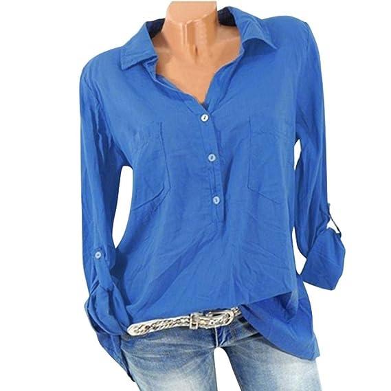 OverDose mujer Daily Pocket Solid Casual Top T Shirt Ladies Loose Mejor Venta Popular con Cuello
