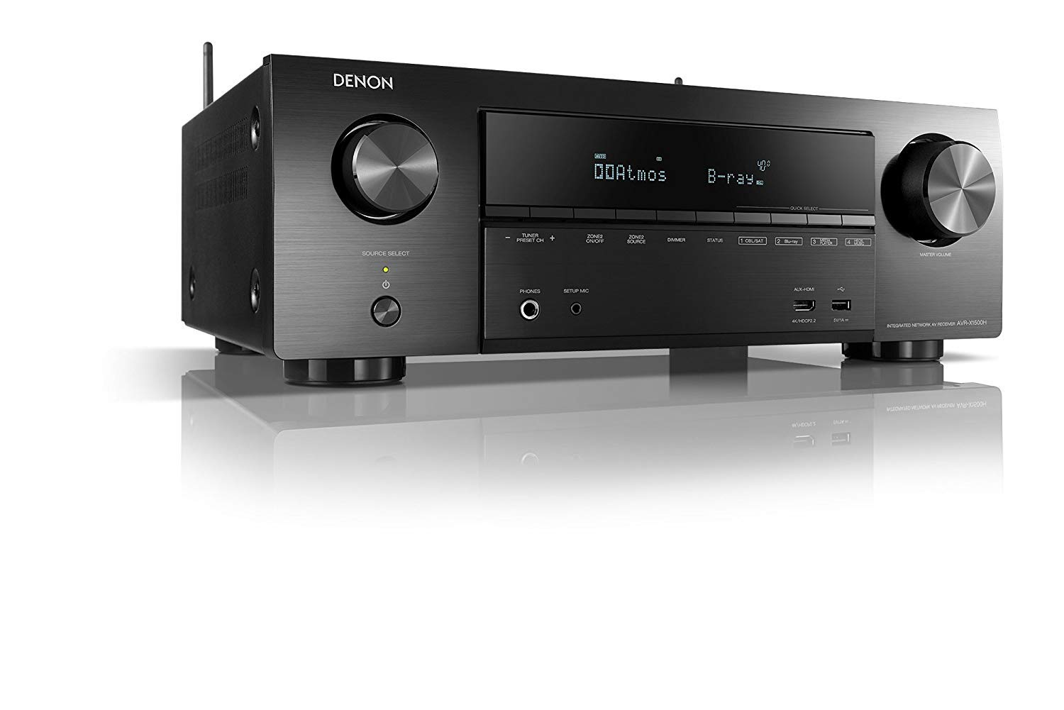 Denon AVR-X1500H 7 2 Ch  AV Receiver with Amazon Alexa Voice Control (Black)