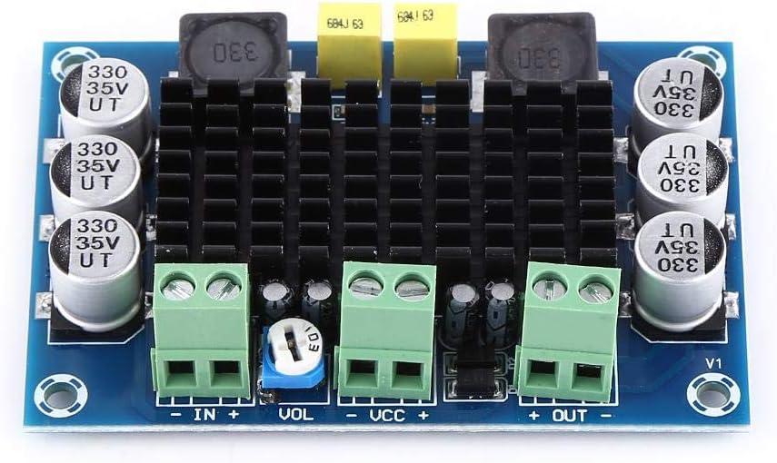DC 12V-26V 100W Placa de Amplificador de Potencia Receptor de Audio Digital de Un Solo Canal Módulo de Placa de Amplificador de Potencia de Sonido