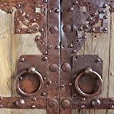 Antique Chinese Wood & Iron Door