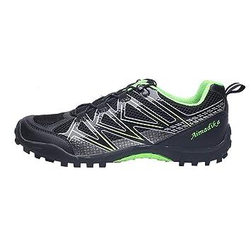 Zapatos de Bicicleta de Carretera de los Hombres, Zapatos Deportivos Deslizan Malla Transpirable Ligero para