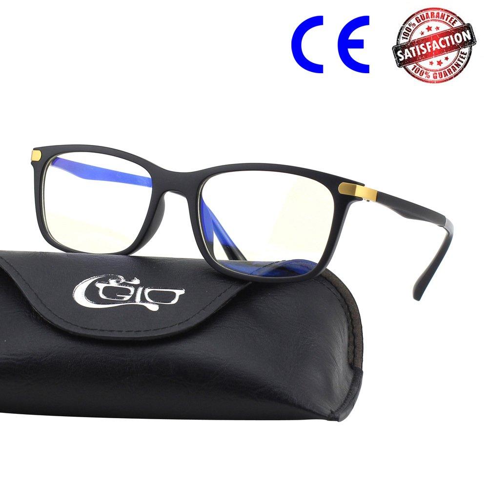 CGID CT46 Gafas Premium con Armazón TR90 para Protección contra Luz Azul, Anti Fatiga por Deslumbramiento