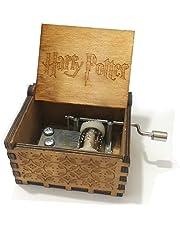 su ma Caja de música de madera clásica de la caja de la música de Harry Potter Music Box para los regalos
