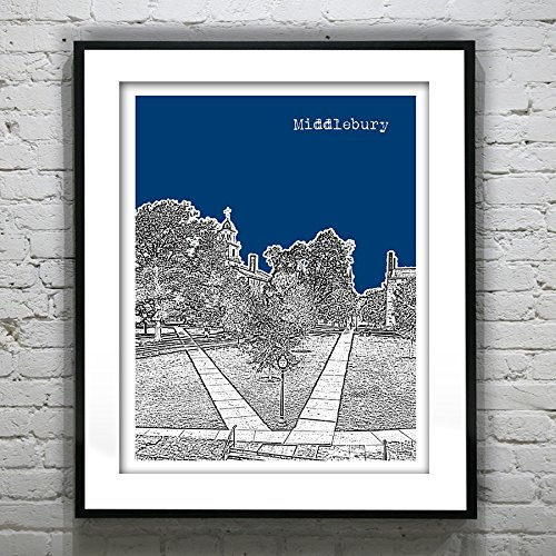 Middlebury Vermont Art Print - Middlebury College, VT - Version 2