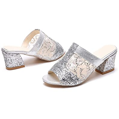 ecf651a1f932 Women s Heel Wedge Platform Sandals Rhinestone Fashion Summer Slippers  Sandals Diamond Bling Shoes in Summer (