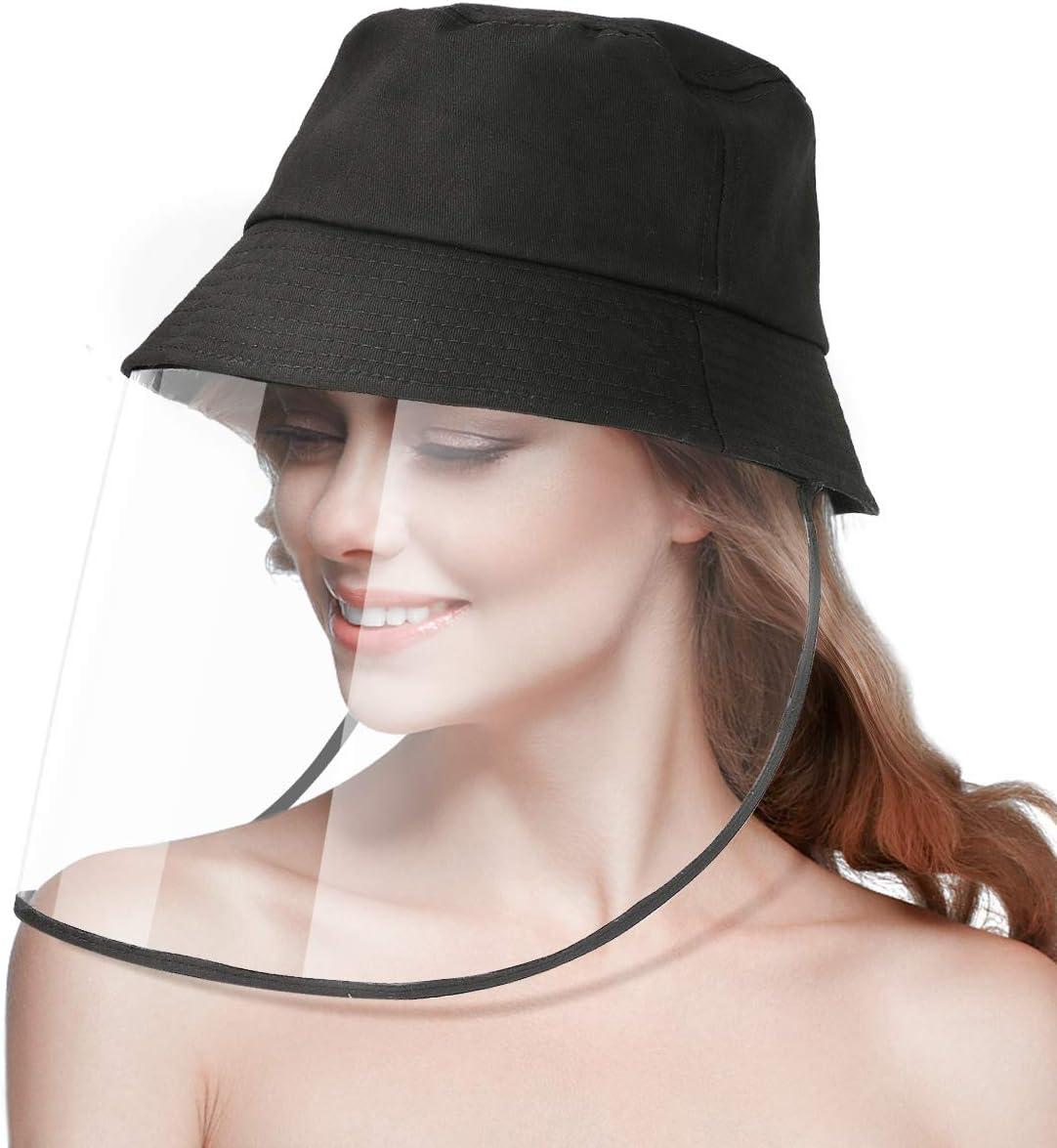 Waterproof Anti-UV Anti-Dust Anti-Saliva Cap Protection for Women and Men Protective Face Shield Fisherman Hat【New Mesh design 】 Babyhelen Adults Protective Face Shield Visor Hat