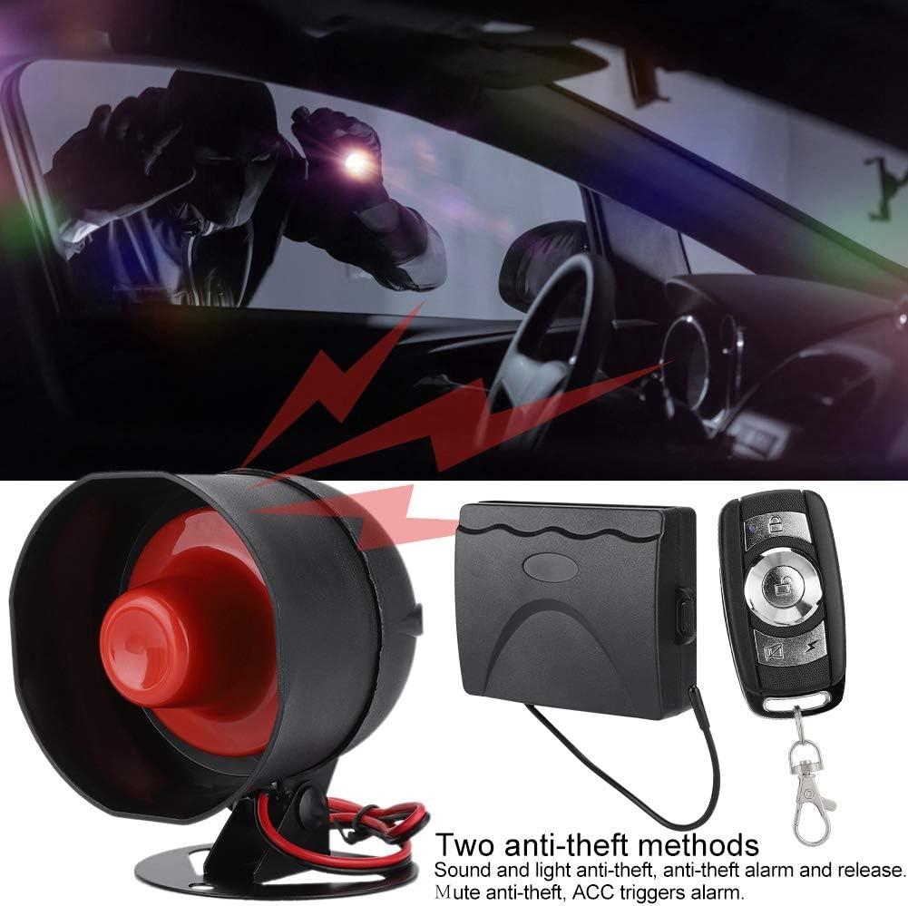 Alarma universal de coche incluye alarma de alarma//rel/é de falla de alimentaci/ón Dos m/étodos antirrobo Bloqueo de control remoto la llave de alarma antirrobo del veh/ículo 2#