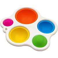 Baby Simple Dimple Sensory Toy Early Education Toys Silicone Flipping Board, Stress Relief Sensory Hand Toys for Baby…
