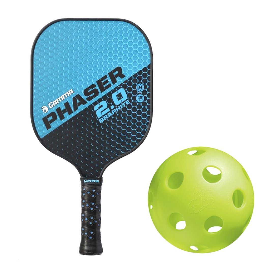 Gamma 2.0 Pickleball Paddle Kit Bundled with (Set of 4) Jugs Indoor Pickleball Balls