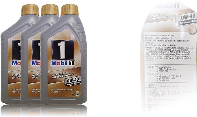 Mobil 1 New Life 0W-40 - Aceite de Motor: Amazon.es: Coche y moto