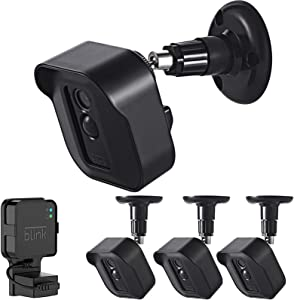 Blink XT2 Camera Wall Mount, 360° Adjustable Mount and Weather Proof Protective Housing with Blink Sync Module Outlet Mount for Blink XT XT2 Indoor Outdoor Home Security Camera System (Black, 3 Pack)