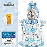 Timfanie® Windeltorte | Spieluhr (2-stöckig / baby-blau)