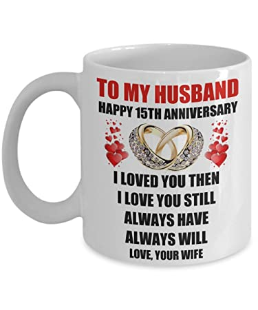 Image Unavailable. Image not available for. Color: 15 Year 15th Wedding Anniversary Marriage Gift For Him Men ...
