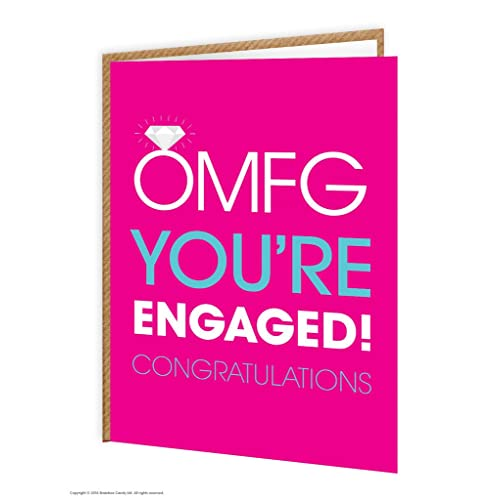 Engagement greetings cards amazon funny rude humorous omfg youre engaged engagement card m4hsunfo