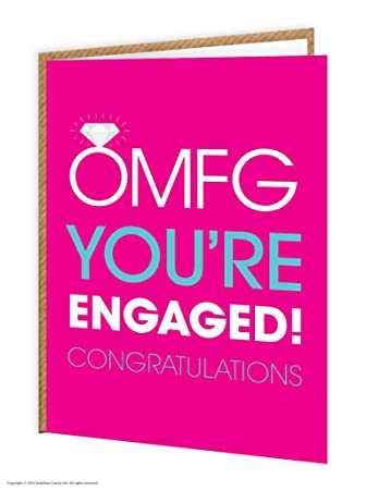 Amazon brainbox candy funny humorous omfg youre engaged brainbox candy funny humorous omfg youre engaged engagement greetings card m4hsunfo